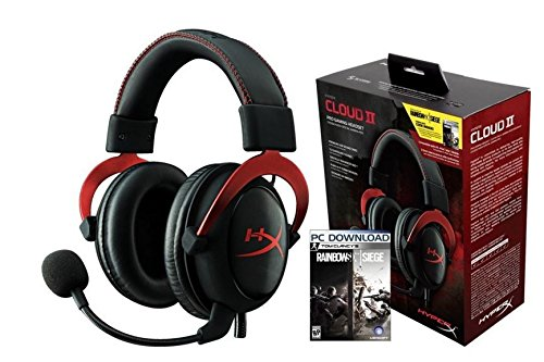 44ac2abeb29c5 HyperX Cloud II Rainbow Six Siege Bundle, Gaming Headset for PC & PS4 and  PC Game Code (HG-HS2RD-1B)