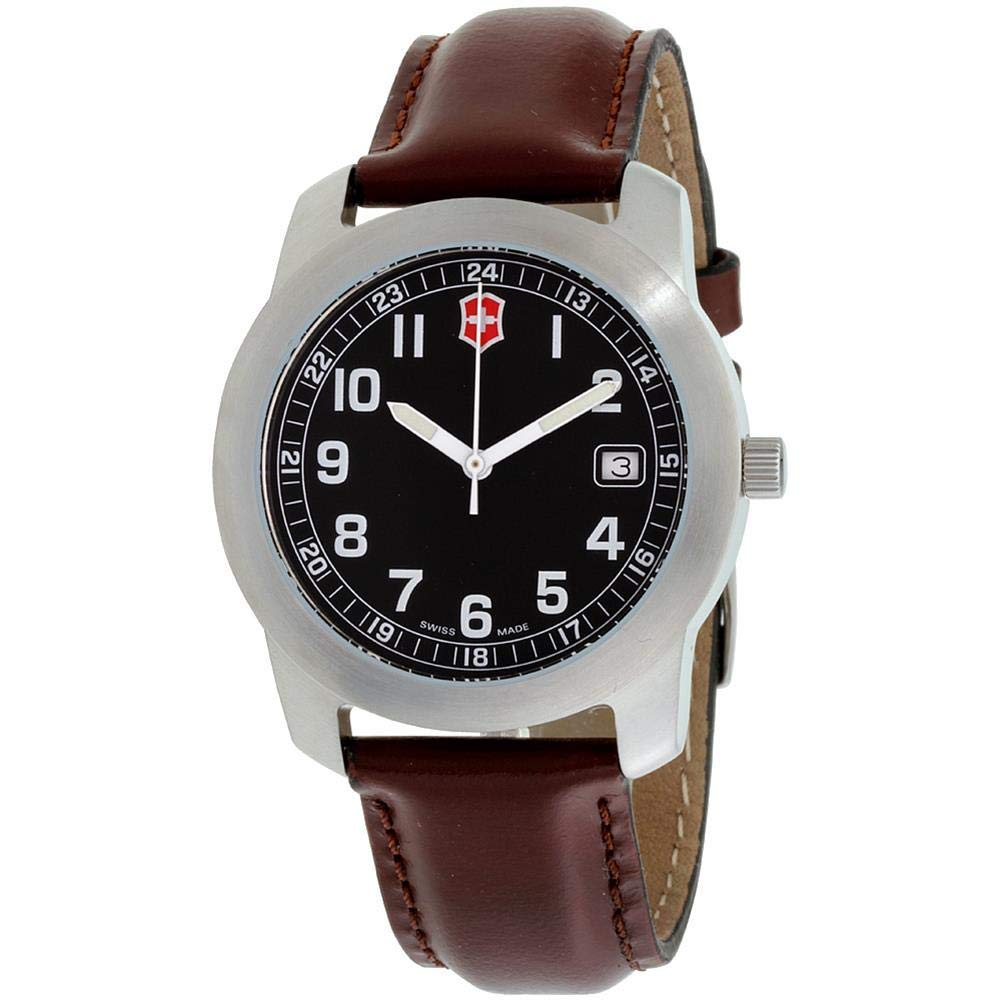 Swiss Army Watch >> Victorinox Swiss Army Men S Quartz Stainless Steel And Leather