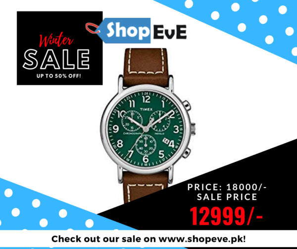 Timex Men's Leather Strap Watch